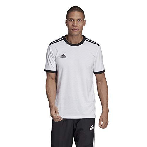 adidas Men's Alphaskin Tiro Jersey, White/Black, Medium