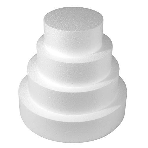 Idea party Base per Torta Circolare in Polistirolo Altezza 10 cm Cake Desing (Diametro 20)