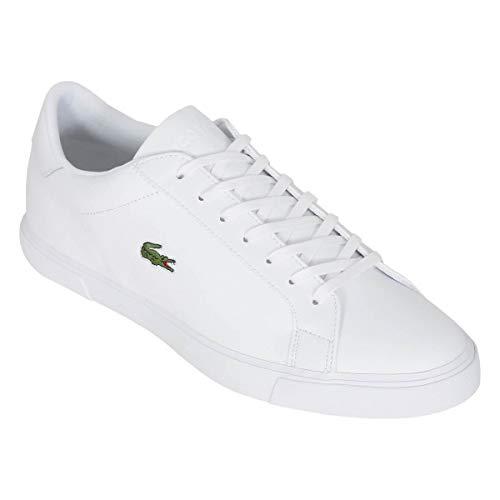 Lacoste Lerond Plus 0721 1 CM - Zapatillas de piel para hombre, color Blanco, talla 41 EU