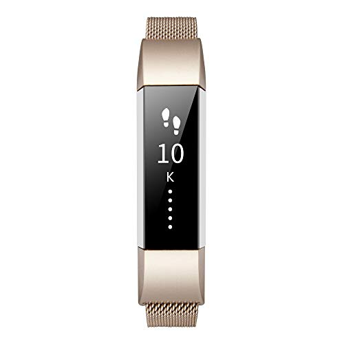 TOMALL Metal Bands Compatible for Fitbit Alta HR,Stainless Steel Metal Replacement Bands for Women Men
