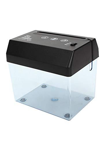 newrong Büromaterial Tragbare Praktische Aktenvernichter mit Brieföffner Elektrisch Sicher Mini-Schredder Schwarz