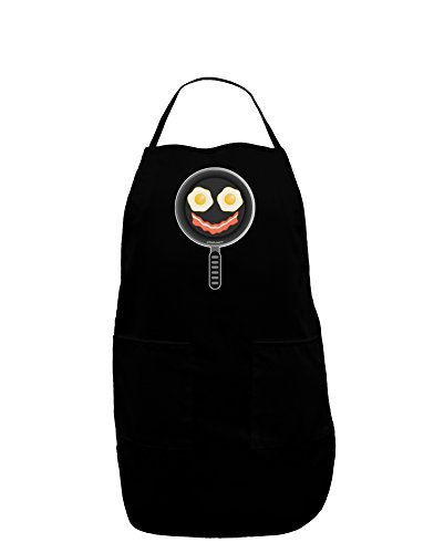 TooLoud Eggs and Bacon Smiley Face Dark Adult Apron - Black - One-Size