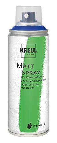 Kreul 76320 - Farbspray blau, 200 ml, klassisch matte Sprühfarbe auf Wasserbasis hochpigmentiert und wasserfest styropofest für Innen und Außen