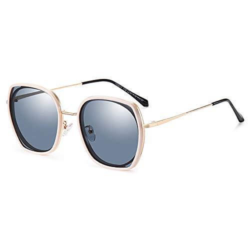 GUANGE Gafas De Sol Mujer Elegantes Retro Gafas De Sol para Mujer Unisex UV400 Protección Protección Antideslumbrante Gafas de Sol Deportivas para Aire Libre,Beige