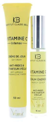 Vitamine C Intensif Crème Jour + Énergie Sérum (50ml+15ml) - Avec Tache Pigmentaire, Blanchiment de la Peau Et Troubles Pigmentation - Fabriqué En Europe