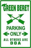 2個 グリーンベレーパーキング特殊部隊の道路標識8x12インチ