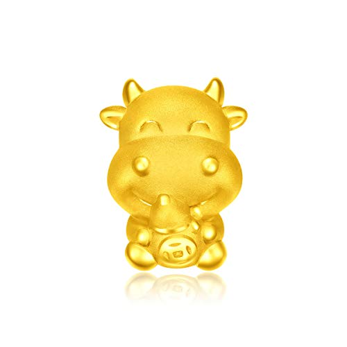 CHOW TAI FOOK 999 Pure 24K Gold Year of Ox Fortune Charm (Money Calabash)