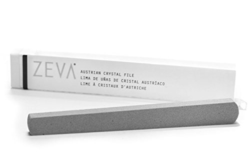 ZEVA Austrian Crystal Nail File - Stops Splitting, Peeling and Cracking, and Removes Excess...