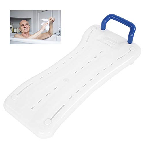 Badewanne Bank mit Armlehnen, Badhocker Badestühle für Badewanne, Einstellbare Länge Badewanne Hilfswerkzeug, geeignet für Senioren und Behinderte, eingebaut Seifenschale und Ablauflöcher