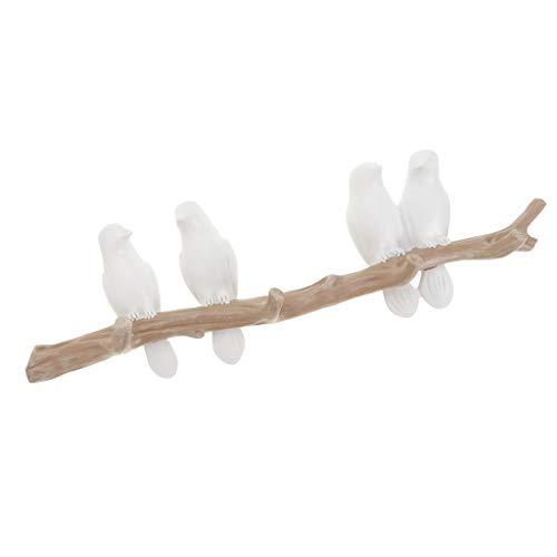 lesiya Resina Pájaro Gancho de Pared Perchero de Mural   4 pájaros