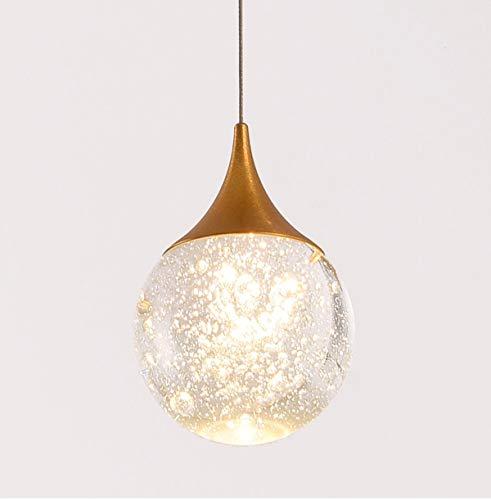 Moderne LED Lineare Pendelleuchte Einfache Weinglas Blase Kristall Kugel Pendant Lights Eisen Goldene Nachttischlampe Warmes Licht Deckenlampe Wohnzimmer Schlafzimmer Esszimmer Arbeitszimmer Café