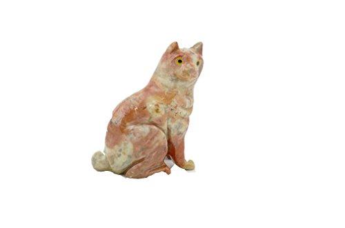 Deutsches Mineralienmuseum Speckstein Katze, Glücksbringer, Geschenk aus Stein