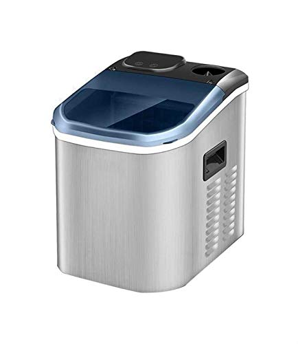 LJJOO Máquina de hielo de 25 kg / 24h de encimera de 220W, ventana transparente + pantalla LCD totalmente automática eléctrica máquina de hielo acero inoxidable Máquinas para hacer hielo