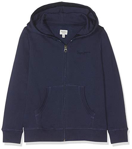 Pepe Jeans Zip Thru Girls Felpa, Blu (Navy 595), 11-12 Anni (Taglia Produttore: 12) Bambina