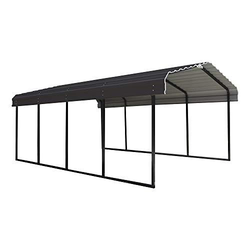Arrow Shed 12 x 20 x 7-Foot Heavy Duty Galvanized Steel Metal Multi-Use Shelter, Shade, Carport, 12' x 20' x 7'