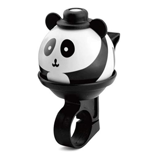 MOVKZACV Cartoon Panda Cycling Bell,360° Rotatable Girls Boys Bicycle Aluminium Alloy Accessories,Durable Loud Crisp Sound Bicycle Handlebar Ring