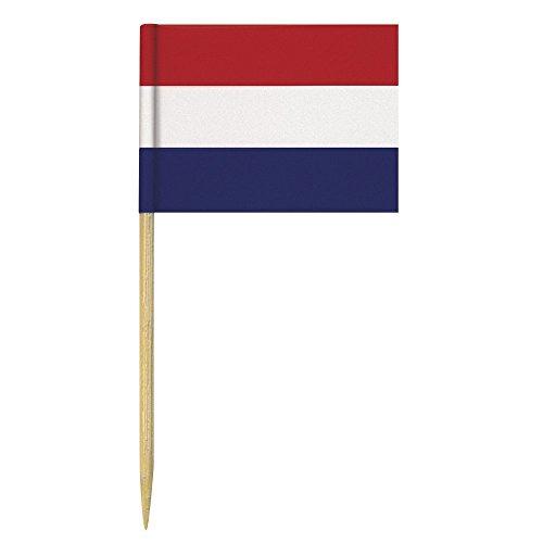 Rayher - 5600900 - Flaggenpicker-Niederlande, 6,5 cm, SB-Btl. 10 Stück