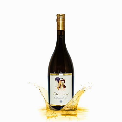 Chardonnay di Montemaggio - Toskanischer Bio-Weißwein - Trockener Luxuriöser Edler Bio - 100% Chardonnay - Wein aus Italien - Glaskorken - Fattoria di Montemaggio - 0.75L - 3 Flaschen