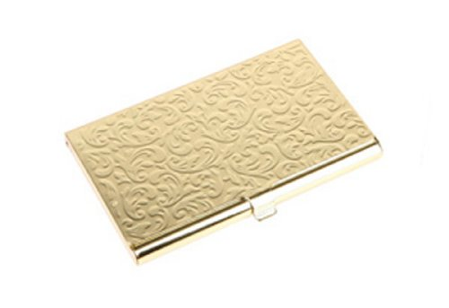 Damask Embossed Metal Card Case