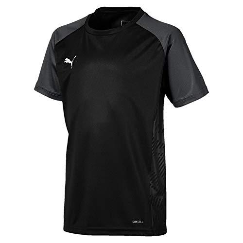 PUMA Uni T-Shirt Cup Sideline Tee Core Jr, Puma Black-Asphalt, 164, 656052