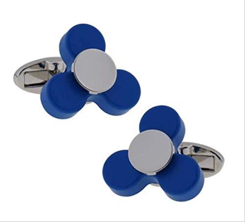 XKSWZD Manschettenknöpfe Kugellager-Manschettenknöpfe Funktionale drehbare Vielfalt von Mechaniker-Vintage-Metall-Farblager-Design-Manschettenknöpfen Blue Finger Spinner