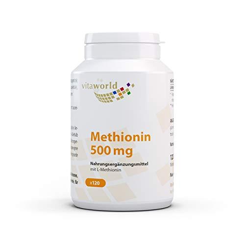 Vita World L-Methionine 500mg 120 Capsules Made in Germany