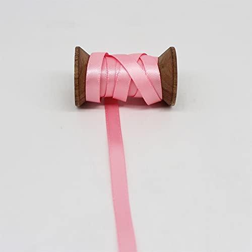 Xunsdzsw Ruban Ruban satiné de Couleur Rose Grosgrain pour DIY Accessoires d'arcs de Cheveux Filles (Color : 6mm Satin)