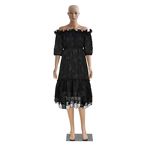 Female Mannequin Full Body Dress Seamstress Model Poseable Mannequin Stand Adjustable Clothing Mannequin Torso Form 69 Inch Plastic Adult Woman Mannequin Display with Metal Base