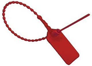 Red SecurityTags Pull Ties Secure Anti-Tamper Seals(Package of 150)