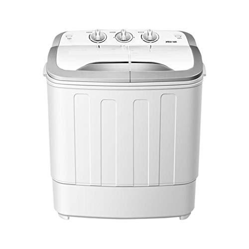 Hjd Washing Machine A +++ automática de Doble Barril Lavadora de Plata Mini 5 kg Lavadora de Ropa Washing Machine