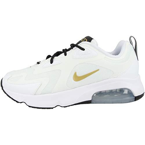 Nike W Air Max 200, Chaussures de Trail Femme, White/Metallic Gold-Black, 37.5 EU