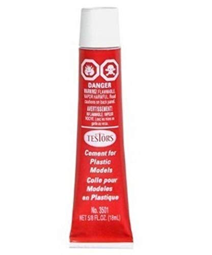 Testors TES3512A Plastic Model Cement , Carded, 5/8oz