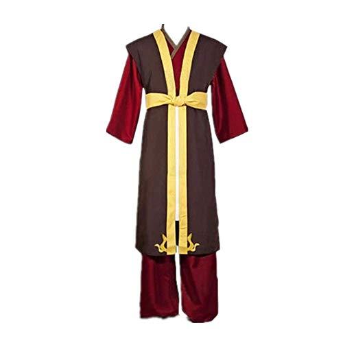 CHANGL 4PCS Avatar: Der letzte Airbender Zuko Cosplay Costume Kostüm Oriental Traditionelle Kleidung Robe Mantel Uniform Anzüge Halloween Karneval Hohe Qualität