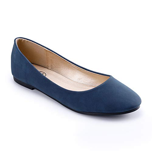 Trary Women's Classic Round Toe Slip on Ballet Flat Shoes