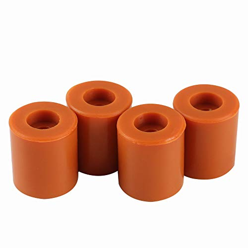 BCZAMD Heatbed Silicone Leveling Column, 3D Printer Hot Bed Mounts Column Stable Tool Heat-Resistant Silicone Buffer for Prusa i3 Plus Anet A8 Wanhao D9 Anycubic Mega, 4 Pack Brown