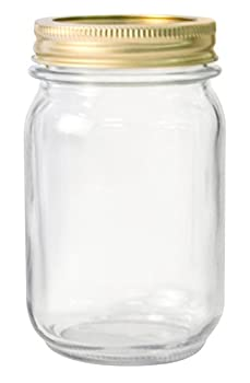 Anchor Hocking AHG17 1 Pint Home Canning Jars with Metal Lids and Rings Clear - Pack of 12