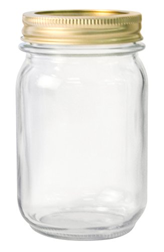 Anchor Hocking 10985 10985AHG17 1 Pint Home Canning Jars with Metal Lids and Rings, Clear - Pack of 12