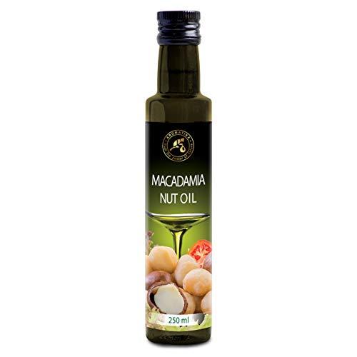 Olio di Macadamia 250 ml - Commestibile - Spremuto a freddo - Olio di macadamia per Alimentazione & Salute - Macadamia Integrifolia - Olio crudo di Noci di Macadamia Puro e Naturale