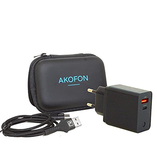 Akofon Cargador USB Tipo C 20w y Cable Cargador rápido para Phone...