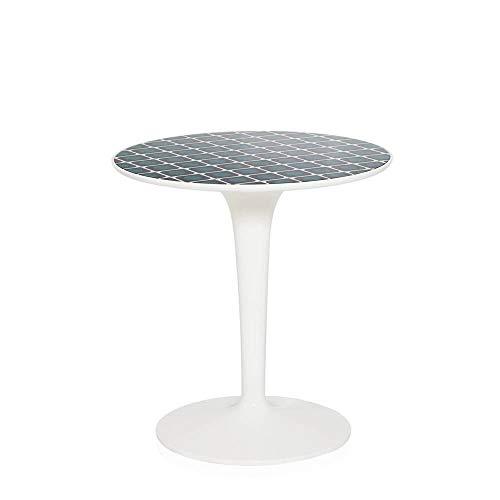 Kartell Tip Top table basse blanche avec plateau décoré La Double J olive