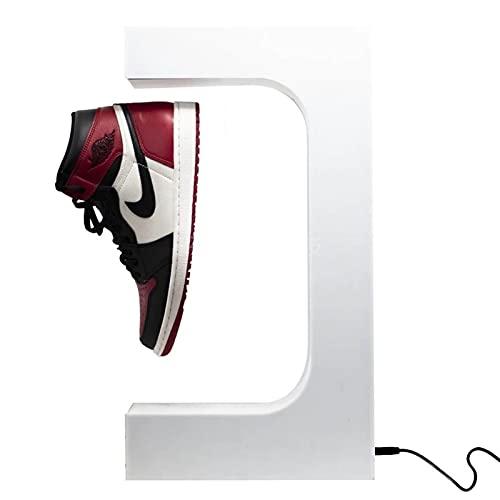 JOMYO Gadgets Tecnologicos, Levitacion Magnetica, Soporte De Cosecha De Imán Auto-rotativo, Soporte Flotante De Imán para Zapatos, Soporte De Zapatos Flotantes Magnéticos (Color : Blanco)
