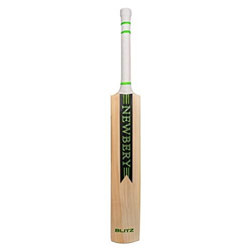 NEWBERY Unisex-Youth Blitz Cricket Bat, Blue/Green, 4
