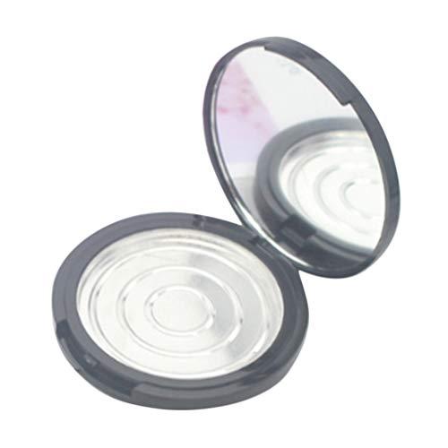 yotijar Boîte de Poudre de Fard à Paupières Rechargeable 12g - Noir, avec miroir