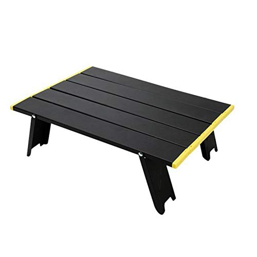 Mesa de camping plegable de aluminio, mesa de picnic de playa, portátil, ultraligera, para actividades al aire libre, picnic, cocinas de playa, senderismo (tipo 1)
