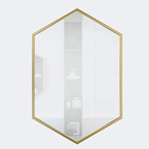 SILOLA Großer Wandspiegel Badezimmer Metallrahmen Wand-Schminktisch Dekorativer schmiedeeiserner Spiegel für Schlafzimmer Badezimmer, Schlafzimmer Wohnzimmer Flur Jeder Raum