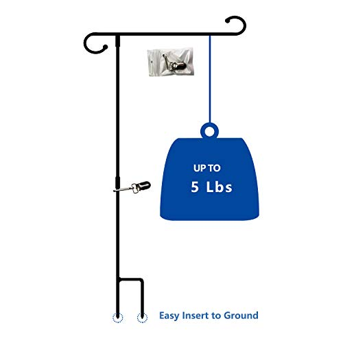 """VIEKEY Garden Flag Pole Stand Durable Garden Flag Holder18 X35.5 Yard Banner Pole Stands for Outdoor Display Decorative Flags 12.5""""X18"""" Stake Holder Easy to Assemble"""