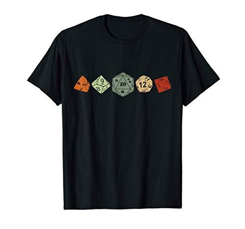 Vintage Dice Dados juego de rol de mesa JdR Juego de Rol D20 Camiseta