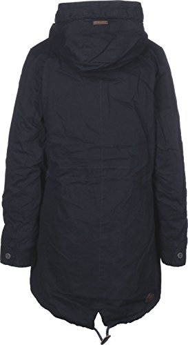 Ragwear RW 172160029 Clancy Warmer Wintermantel aus robustem Baumwoll-Obermaterial, kuschliges Teddy Innenutter an Körper und Kapuze Blau (Navy 2028), EU s