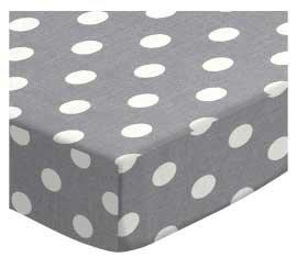SheetWorld Fitted Crib/Toddler Sheet - Polka Dots Grey - Made in USA