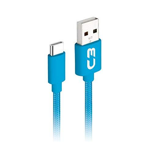 Cabo USB-USB C C3Plus, 1Metro, Azul, 2A Cb-C11Bl